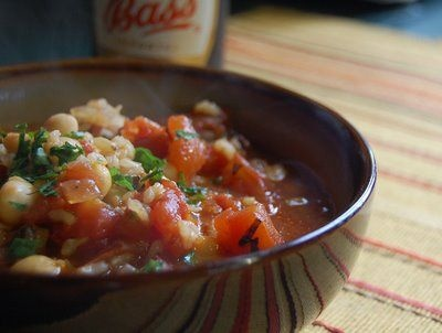 Iraqi Tomato and Chickpea Soup