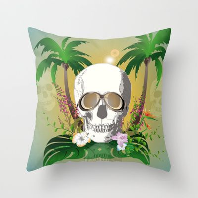 #Skull with #sunglasses a #Throw #Pillow by nicky2342 - $20.00