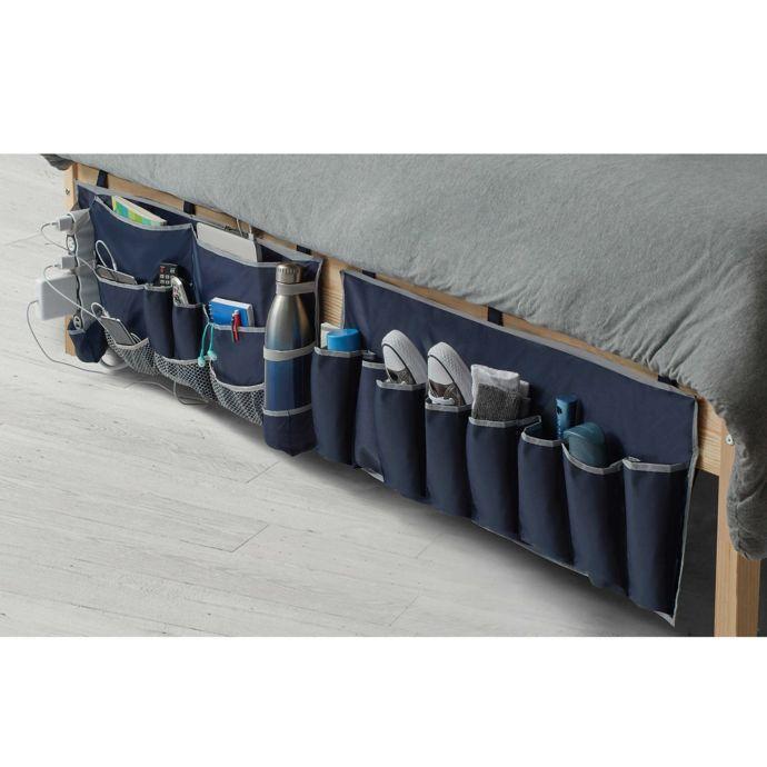 2 Piece Footboard Bedside Organizer Caddy Bedside Organizer Bed