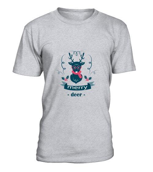 Beautiful Reindeer Hipster Christmas TShirt (*Partner Link)