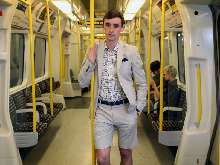 Bare your knees, boys, short suits are now fine for the office. Or are they?