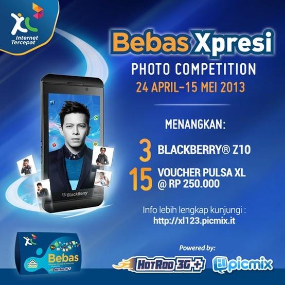 Ayo ikutan PicMix #BebasXpresi Photo Contest yang berhadiah 3 Unit BB Z10 dan Voucher Pulsa XL @Rp.250 ribu!