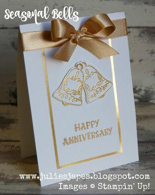 Julie Kettlewell - Stampin Up UK Independent Demonstrator - Order products 24/7: Seasonal Bells for a Golden Wedding