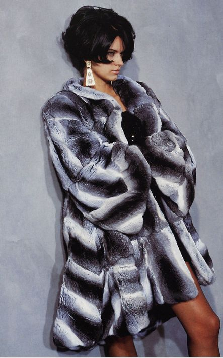 chinchilla fur coat