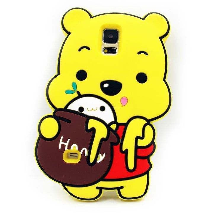 For Coque Samsung Galaxy S5 Silicone Back Cover Samsung Galaxy S5 Neo Case 3D Cartoon Cute Bear Shockproof For Samsung S5 i9600