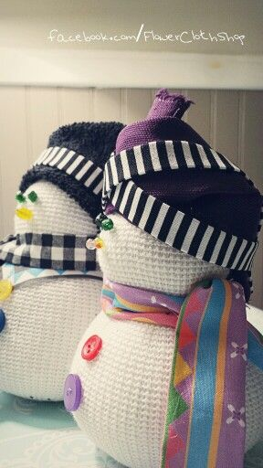 Hmong inspired snowman couple
