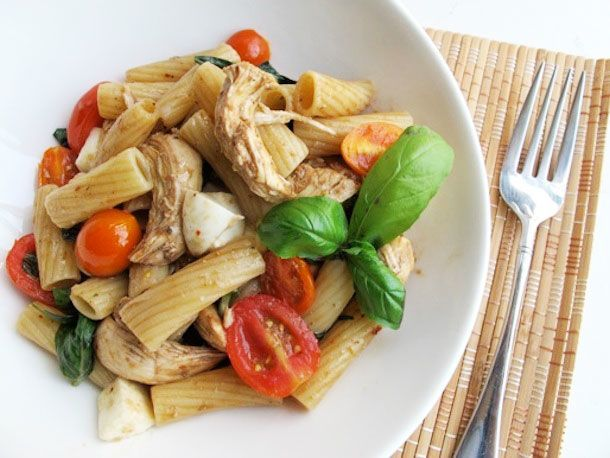 Caprese Chicken Pasta Salad | It's ALL about Food!! | Pinterest