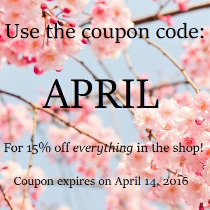 Spring sale announcement! :) Get 15% off everything in my shop with the coupon code: APRIL.  Coupon expires in a week, so shop while you can! Feel free to message me with any questions or custom orders.   Much love, Krys