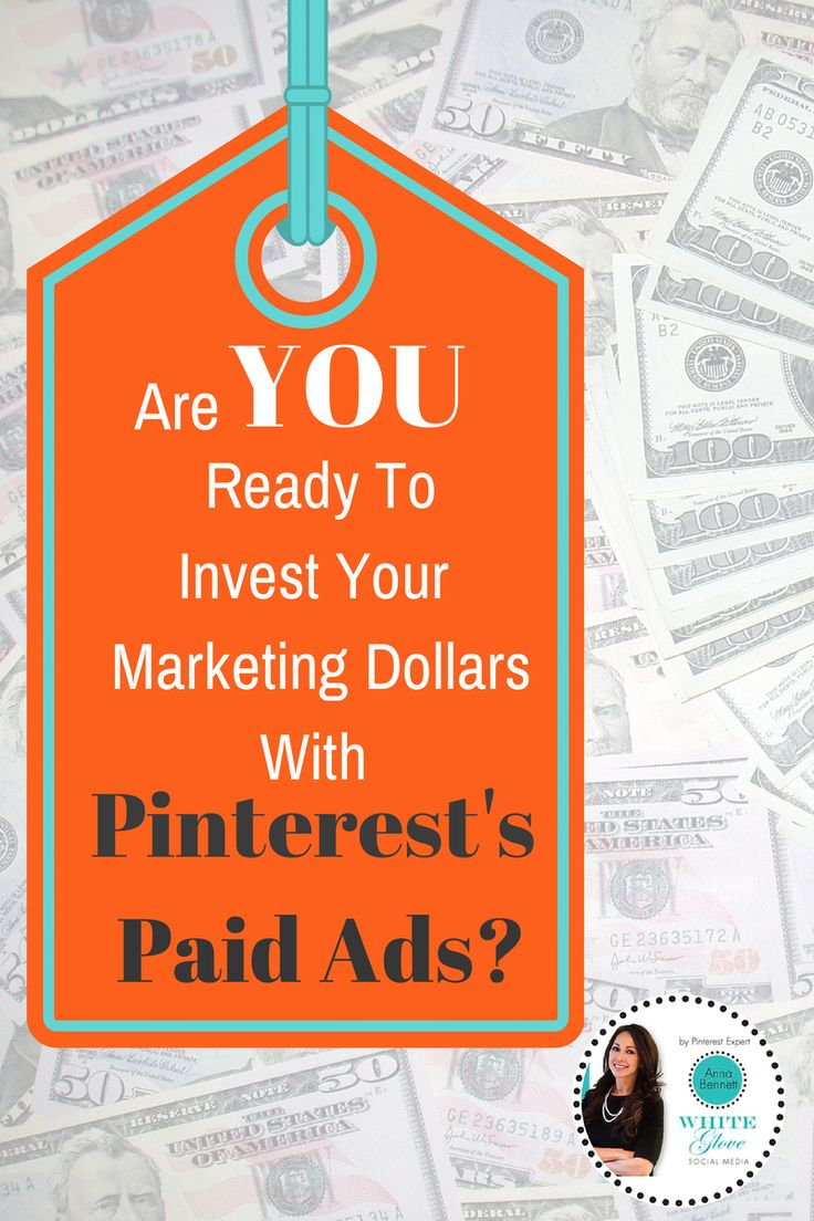 "#PinterestExpert Shares ""Are You Ready To Invest Your Marketing Dollars With Pinterest's Paid Ads?"" CLICK HERE to learn how you can APPLY http://www.whiteglovesocialmedia.com/pinterest-expert-are-you-ready-to-invest-in-pinterest/ #PinterestTips #PinterestForBusiness"