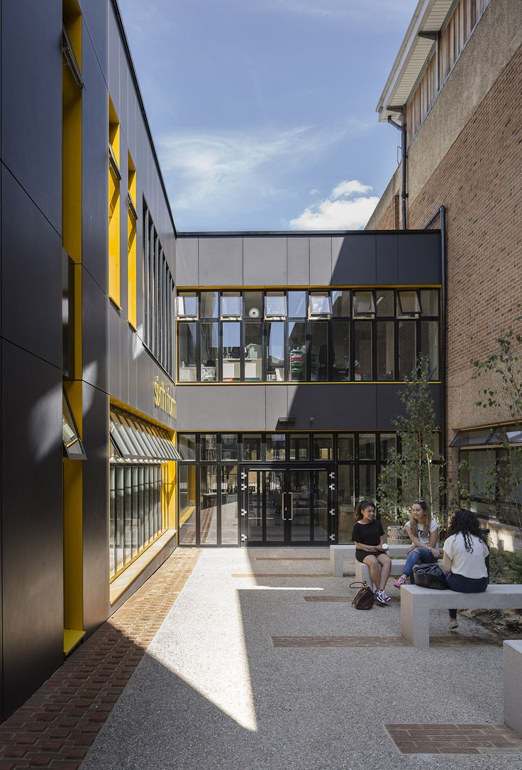 166 best landscape l courtyard n patio images on pinterest gallery of stoke newington school sixth form centre jestico whiles 4