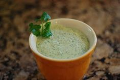 Amy's Cilantro Cream Sauce ... perfect with those Southwestern Egg Rolls!