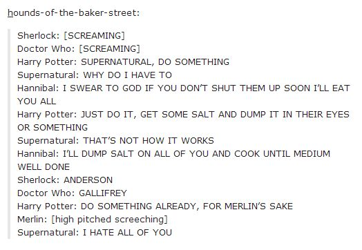 The fandoms worry about what to do with Sherlock and Doctor Who. It's not going well. <- WHY ISNT THIS A SHOW YET