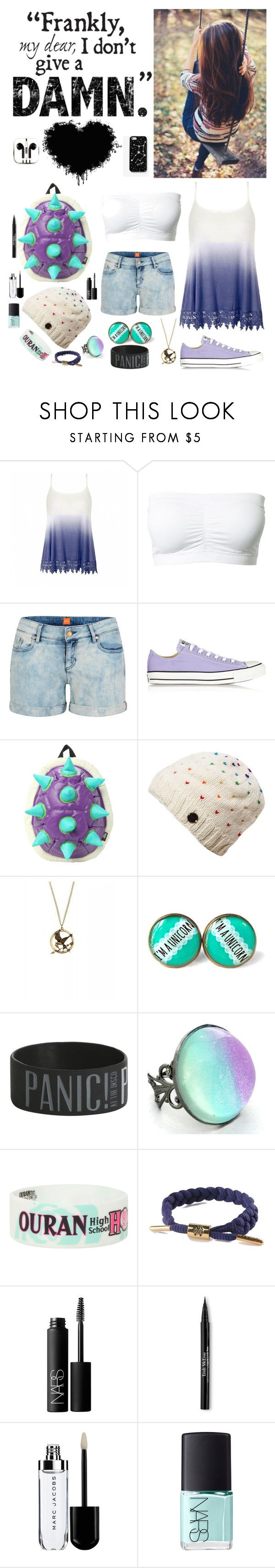 """""""""""This is me"""" - Elena (myself)"""" by nationalnerd ❤ liked on Polyvore featuring Ally Fashion, Magic, BOSS Orange, Converse, Rastaclat, NARS Cosmetics, Trish McEvoy, Kate Spade Saturday and PhunkeeTree"""