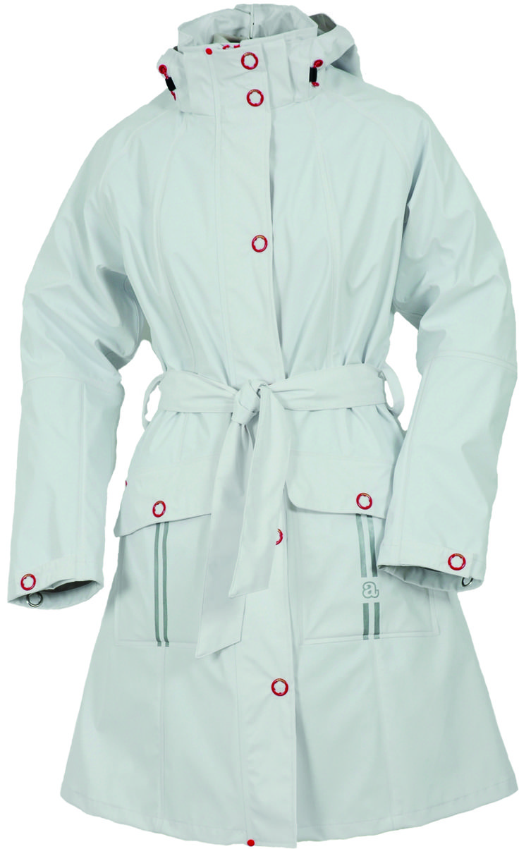Our new Abeko arrival is the chic Bella Women's rain jacket. The material is made out of Polyester. Polyester lining in sleeves and body with a belted waist. Bella jacket is a guaranteed breathable, water and wind proof jacket. Removable hood. Two pockets. Zip and studded storm flap. Reflective prints. Watertightness: 5000 m.m Lining: 100% polyester. Sizes come in XS, S, M, L, XL and 2XL.
