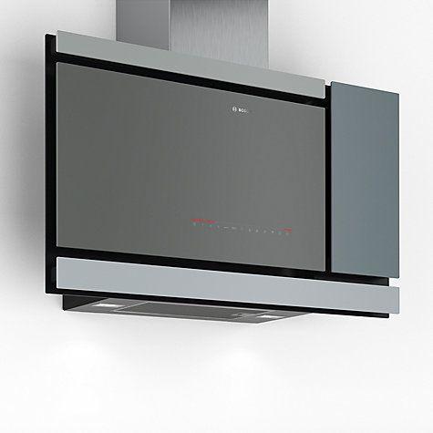 Buy Bosch DWF97MS70B Chimney Cooker Hood, Grey Online at johnlewis.com