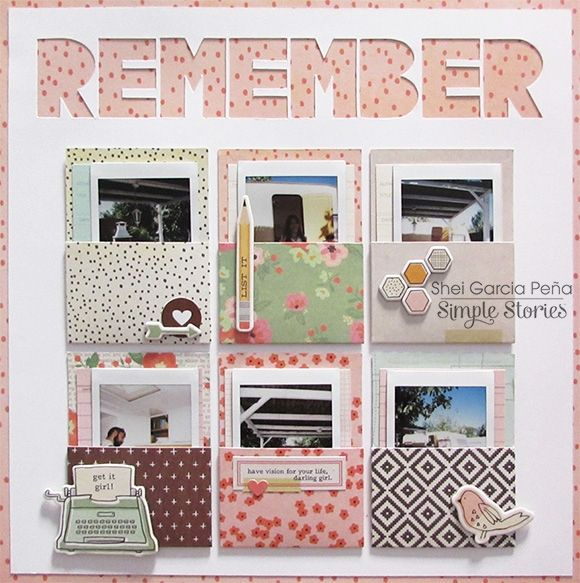 Designed by creative team member Shei Garcia Pena using The Reset Girl scrapbook collection