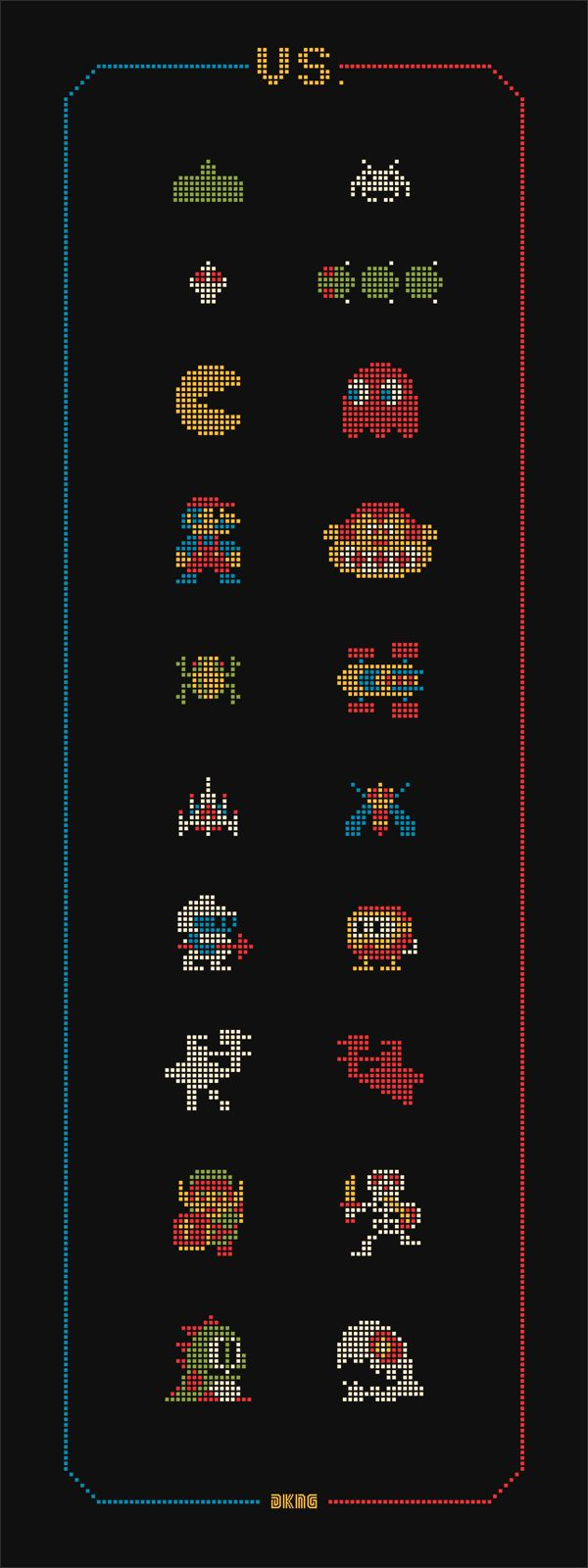 "DKNG Glow in the Dark ""VS."" Art Print #8bit"