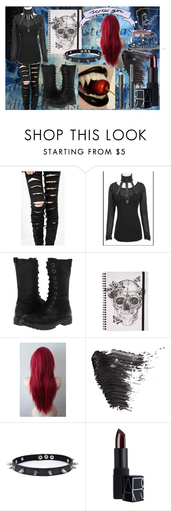 """""""Untitled #572"""" by creepypasta-music-anime-love ❤ liked on Polyvore featuring BC Footwear, Topshop, Trend Cool, NARS Cosmetics and Burberry"""