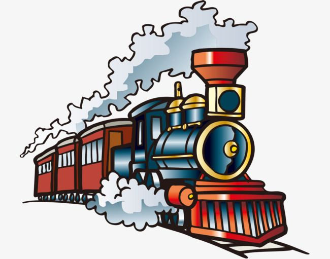 Hand Painted With Cartoon Train Cartoon Vehicles Hand Painted Train A Moving Train Png Transparent Clipart Image And Psd File For Free Download Train Cartoon Train Drawing Train Illustration