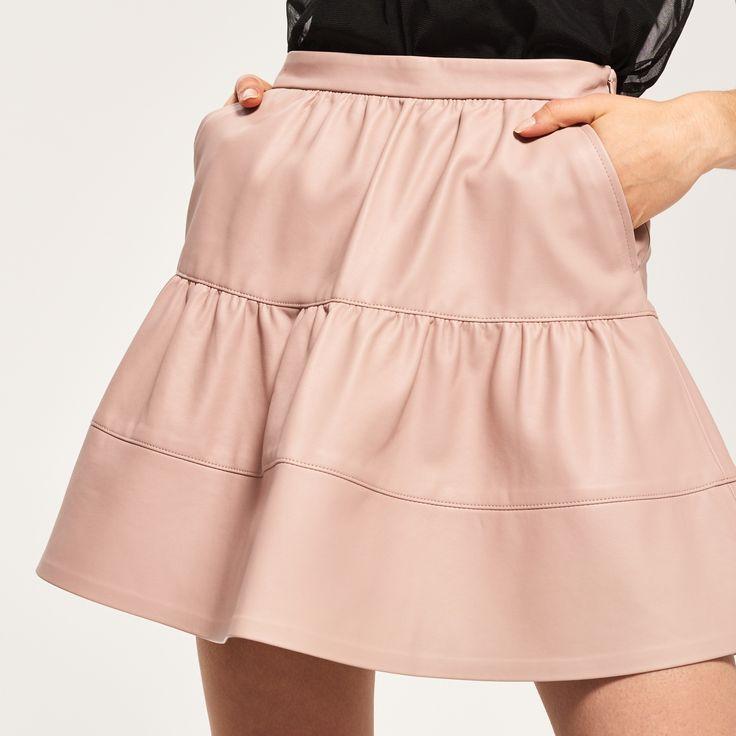 Rozkloszowana spódnica mini, RESERVED, QZ370-03X