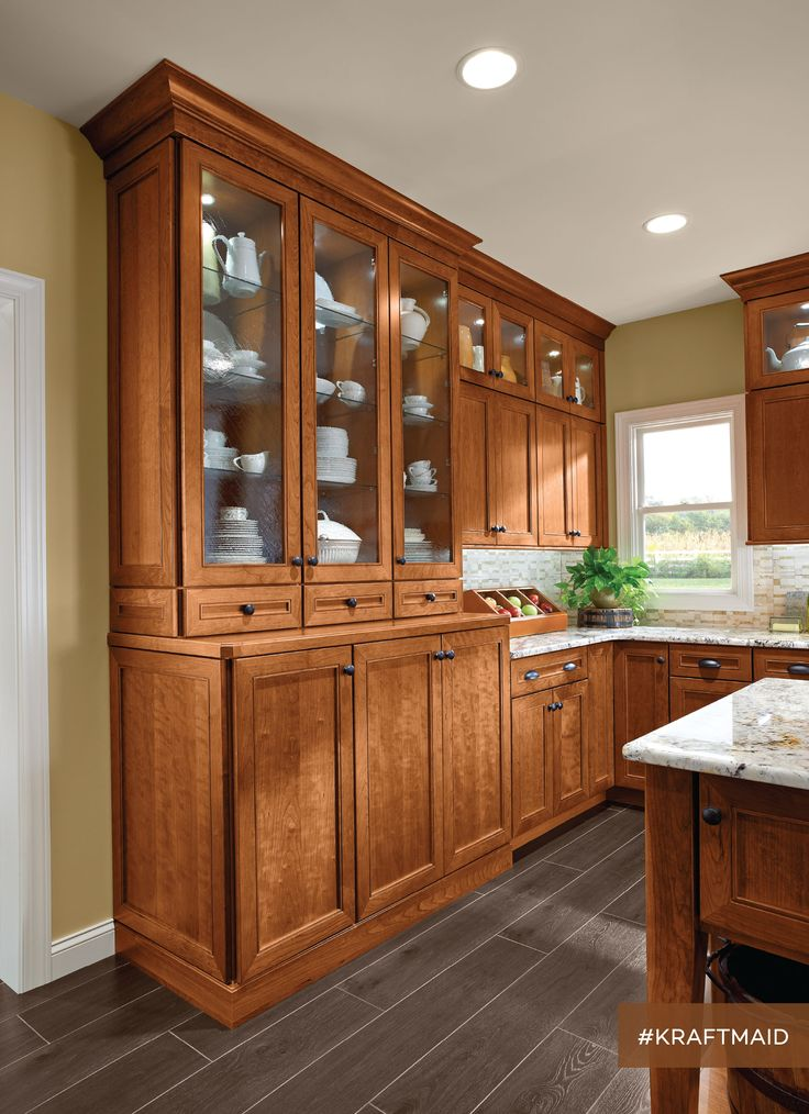 12 best the kitchen she waited a long time for images on for Cherry kitchen cabinets with glass doors