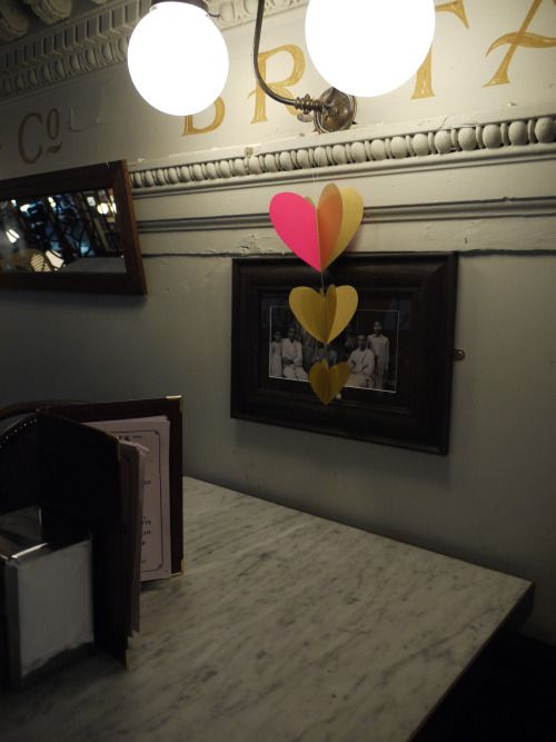 Setting the scene for a Valentine's meal… Hanging heart decoration at Chaakoo in Glasgow  Luxury handmade paper decorations by Paper Street Dolls  Check out our store - paperstreetdolls.etsy.com