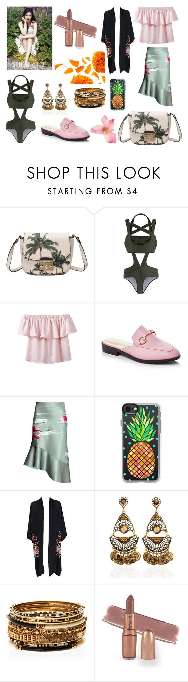 """""""Beach Ruffles"""" by trishoui on Polyvore featuring Casetify and Amrita Singh"""