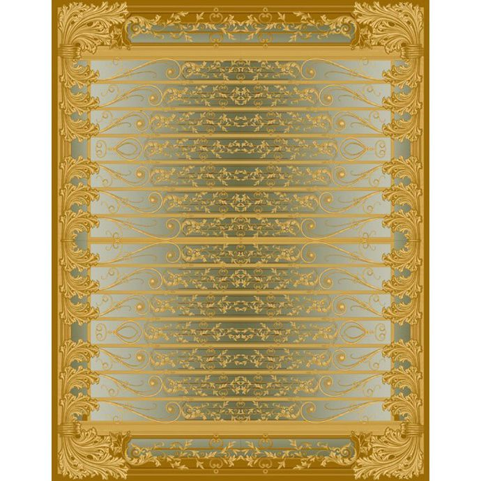 Золотистый ковер с объемным изображениям Edem