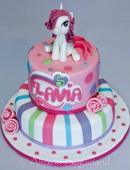 My little pony cake Cake by AliceInSugarland