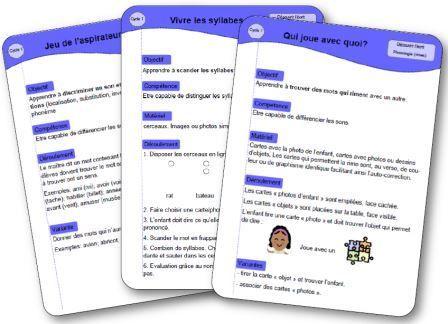 Petits jeux de phonologie tout simples pour travailler la phonologie au quotidien en maternelle