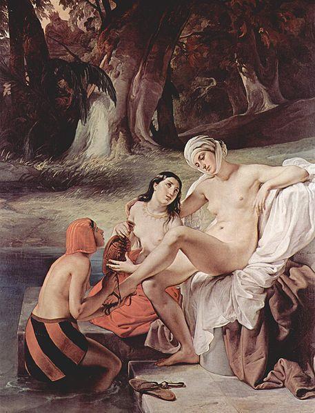 Η Βηθσαβεέ στο λουτρό της (1834)