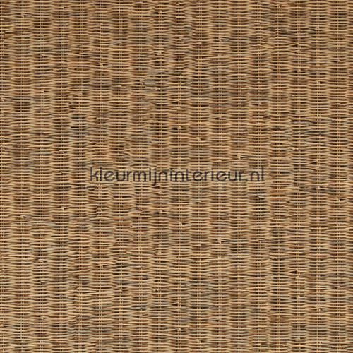 Fijn geweven rattan warm bruin behang 18334, Riviera Maison van BN Wallcoverings