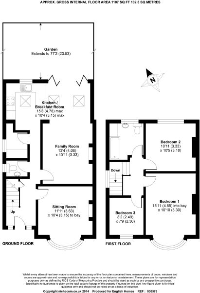 Floorplan with ground floor utility and ground floor wc