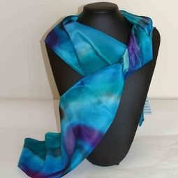 Hand-painted Silk Scarves NZ designs