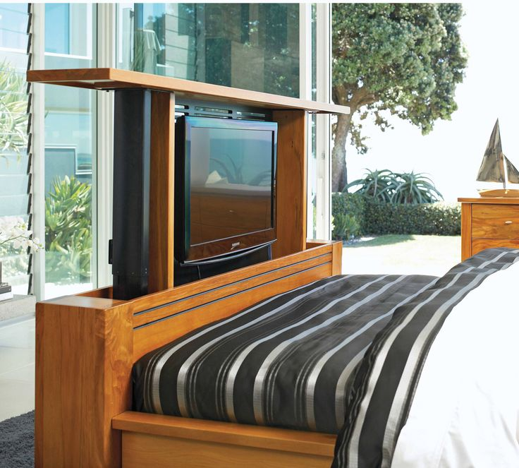 Harvey Norman - Vision Rimu Queen TV Bed Frame by Ezirest Furniture