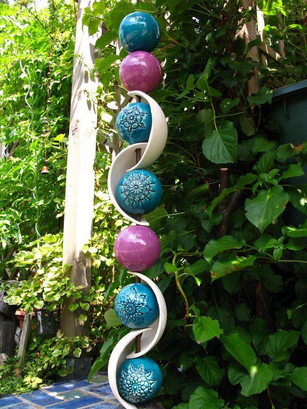 Gartenkugeln & -stelen - JuliFlair Gartenstele ❖rokokoko❖ - ein Designerstück von FischerKunterbunt bei DaWanda