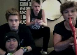 We have cake cuddling in the corner and mikey and ash are just chilling