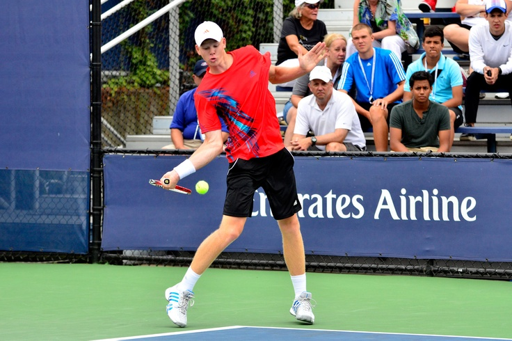 Kyle Edmund (GBR) defeated Noah Rubin (USA)[14] 6-3, 6-3 in a Junior Boys' Singles first-round match at the US Open. - Don Starr/USTA