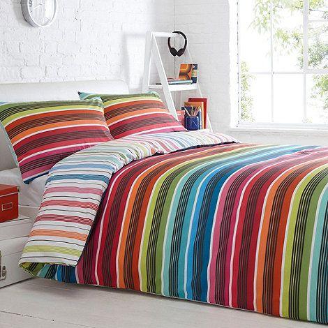 Debenhams White 'Millie Stripe' bedding set- at Debenhams.com
