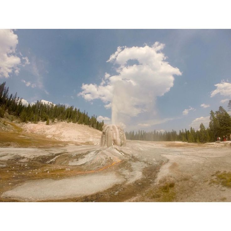 Last day in Yellowstone = hike to Lone Star geyser and waiting 2 hours until the next major eruption  #lonestar #yellowstone #findyourpark #gopro #nationalpark