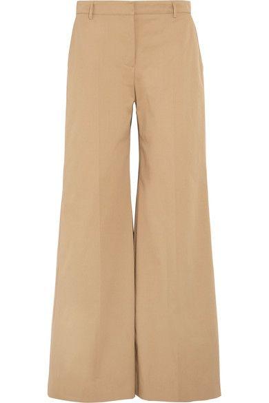 Burberry - Cotton-blend Twill Pants - Camel - UK14