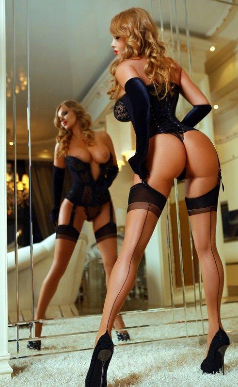 Nylon stockings garters sex