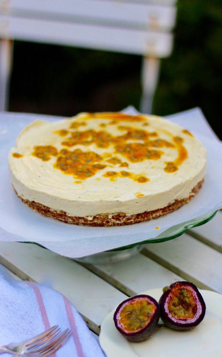 Raw Passion Fruit & Lemon Cheesecake