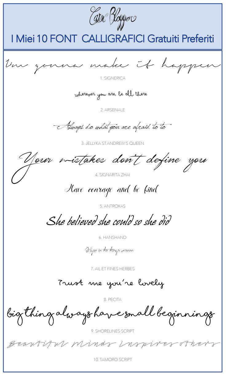 I Mie 10 Font Calligrafici Gratuiti Preferiti: Favolosi Font di Hanwriting da utilizzare per il tuo Blog o per le tue Grafiche! Scopri di più nel Nuovo Articolo:  www.carablogger.it