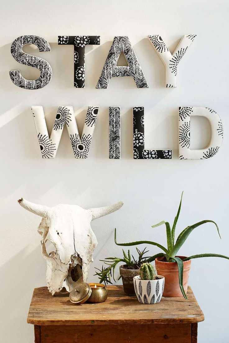 Spice up your room with decorative letters from Urban Outfitters. With the henna designs, they're perfect to make your living space beautiful and unique. Shop the different letters at Urban Outfitters.
