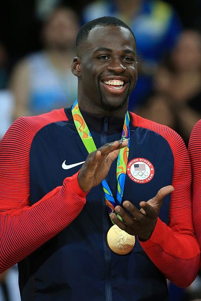 Draymond Green of the USA celebrates after winning the Men's Gold medal game…