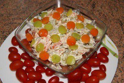 Салат Обжорка ( безумно вкусный)