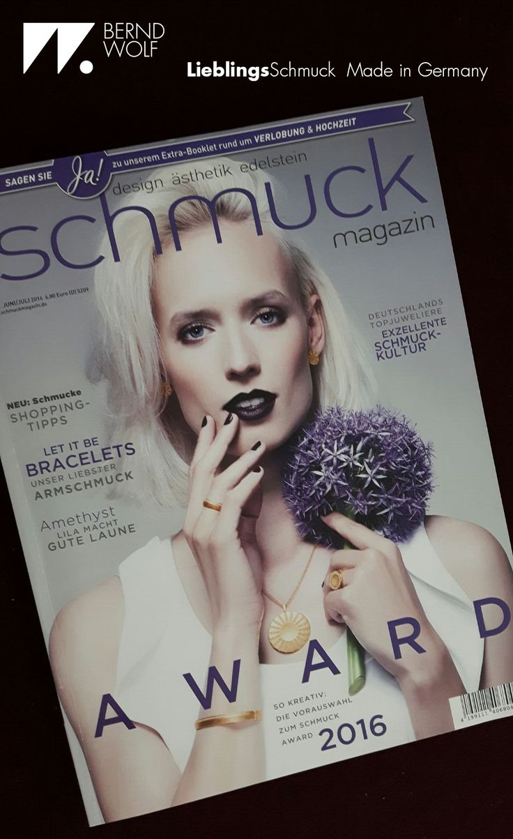 BERND WOLF - Cover des Schmuckmagazin mit Anhänger Sonne, Armreif Pavina, Ring Cavo & Pavini und Ohrstecker Cava #Schmuck #jewelry #berndwolf #LieblingsSchmuck