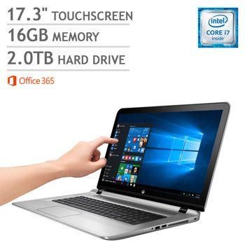 HP ENVY 17t Touchscreen Laptop | Intel Core i7 | 1080p | Backlit Keyboard  | Windows 10 | Office 365 Personal