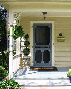 reminds me of my Grandma's farm house door!  <3